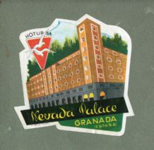 Collectable Hotel luggage label diecut shaped SPAIN #505